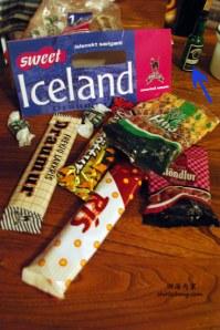 冰岛带回来稀奇古怪的糖果和巧克力,很难吃也!:)