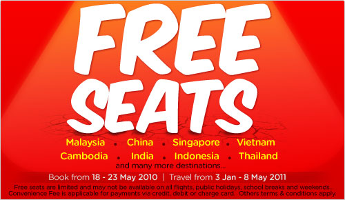 Free seats at Air Asia