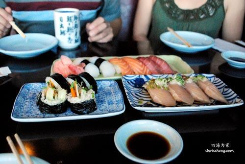 Sushi at Sakura Japanese Restaurant, Los Angeles, CA