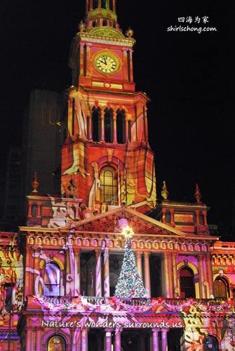 悉尼Town Hall 的圣诞灯饰。