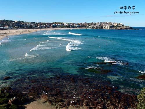 悉尼 Bondi 海滩国际有名。我们有空就会去散步