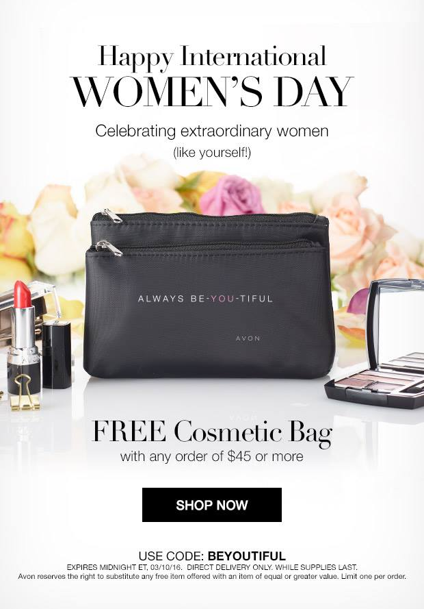 Free Avon Cosmetic Bag