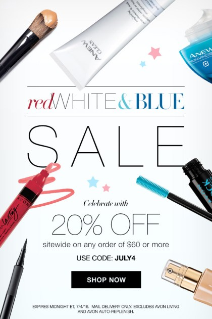 Avon 4th of July Sale