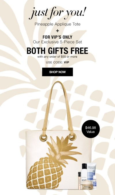 Free Avon VIP Only Exclusive Travel Set and Tote