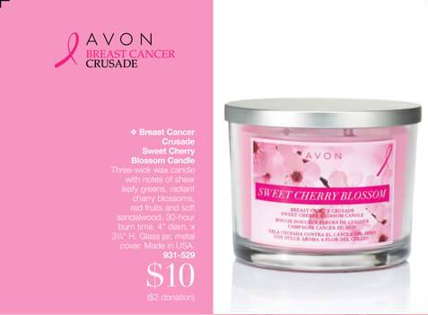 Breast Cancer Crusade Sweet Cherry Blossom Candle