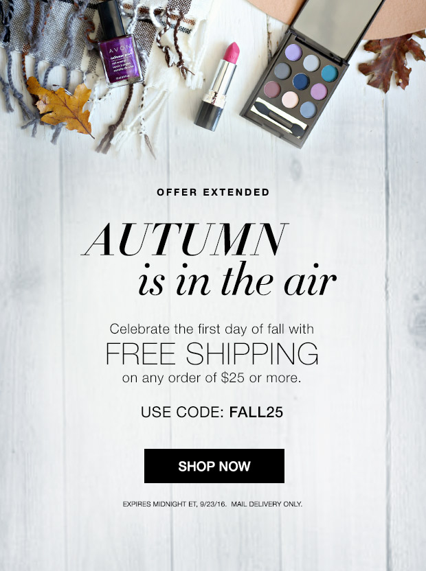 Avon Free Shipping Extended