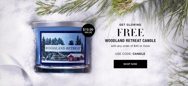 FREE Woodland Retreat Candle