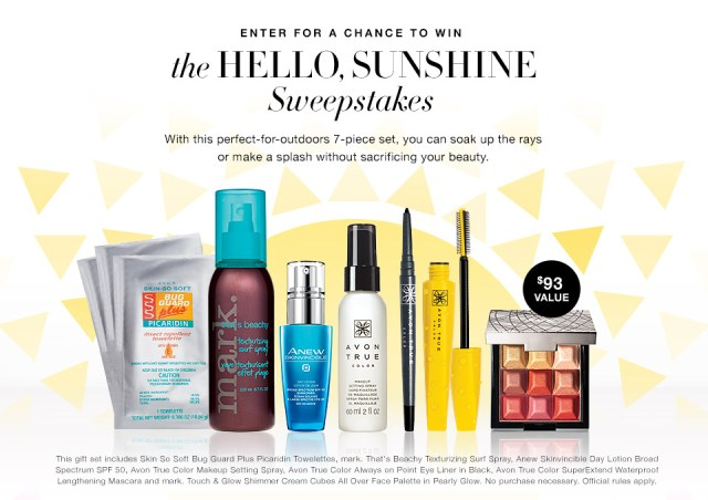 The Avon Hello Sunshine Sweepstakes