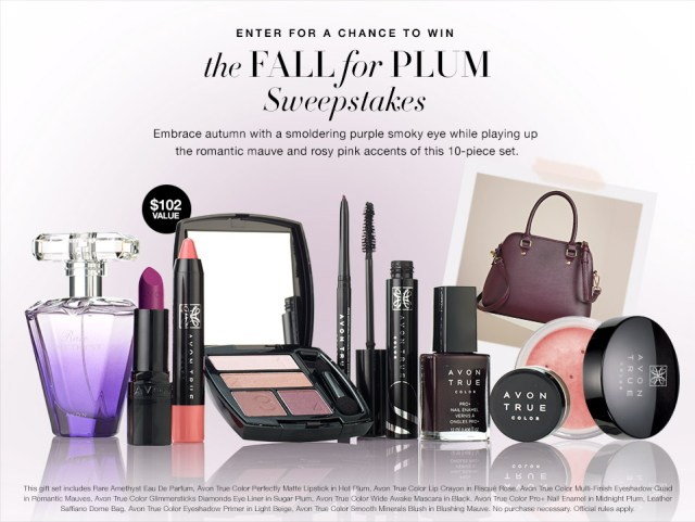The Avon Fall for Plum Sweepstakes
