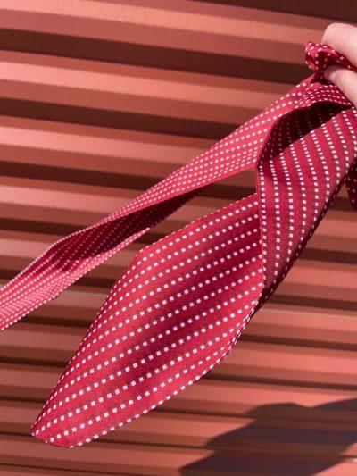 Sjaal Rood met witte en donkerrode print