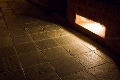 The pathways are cleared with magnificient red lightings