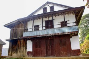 With increasing number of youth moving to gulf countries to earn their living and some people moving down to terai belt (biratnagar,itahari,dharan) these kind of traditional vernacular houses at hill zone are locked with key. The house only exist there with no human activity.