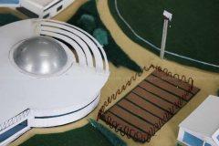 Indoor and outdoor practice hall