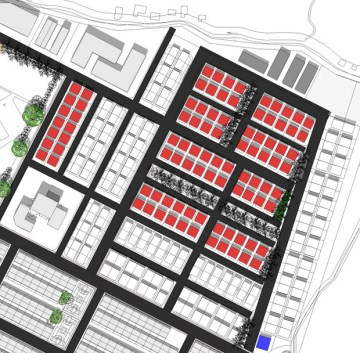 Mid term: Detached housing zone with less open space