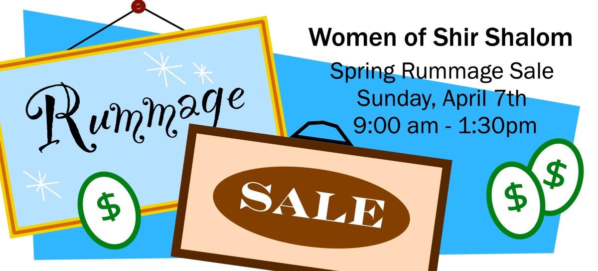 Rummage Sale – Congregation Shir Shalom