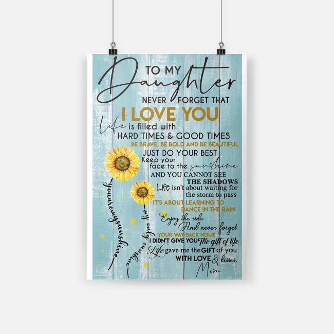 Download 10% OFF To my daughter never forget that I love you poster