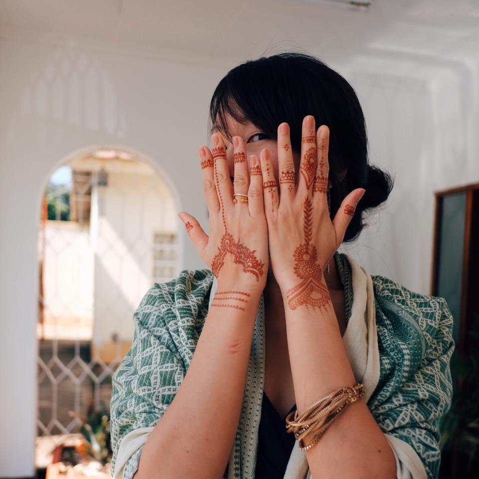 指甲花身體彩繪