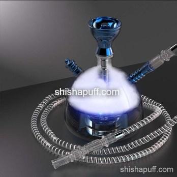 Blue modern acrylic hookah bluetooth led