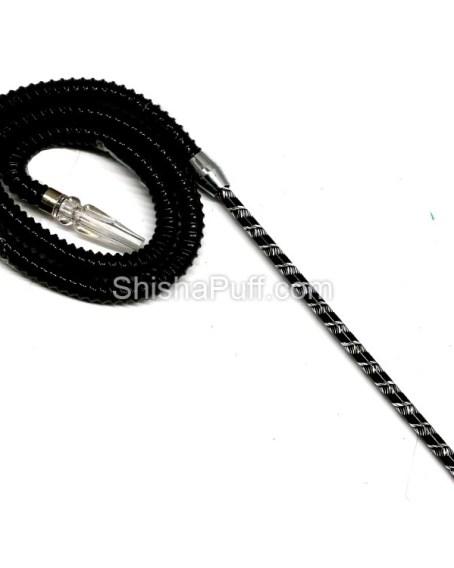 french hose shisha pipe black
