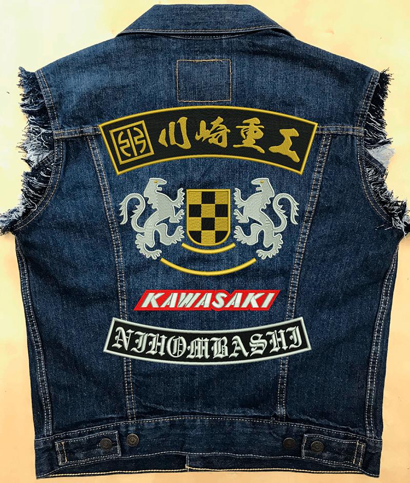 バイクチームや旧車会のつなぎ刺繍やデニム刺繍を製作