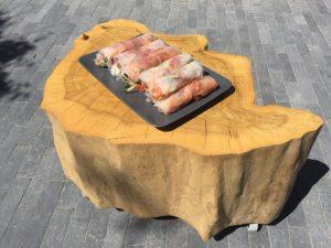 Kimchi spring rolls