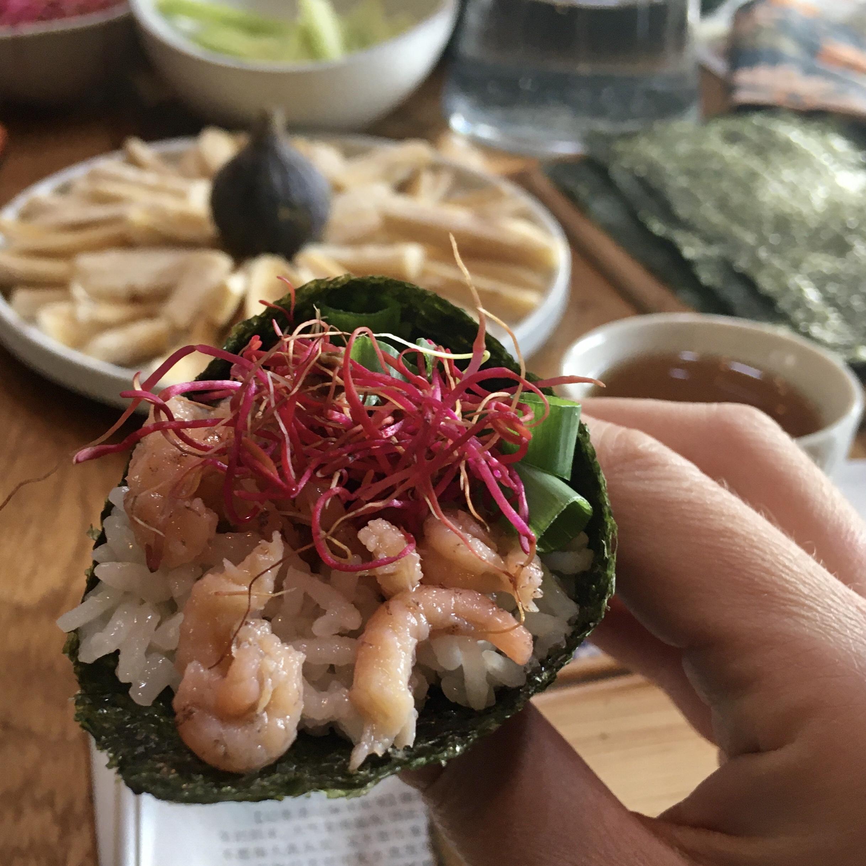 Yara's Sushi Temaki workshop