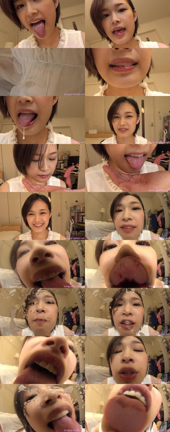 竹内真琴のエロい舌・唾・口の臭い堪能コース1