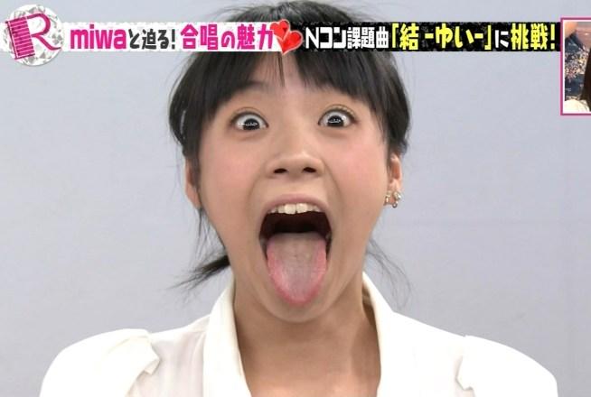 齋藤真緒の舌出し (1)