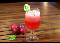 Plum Sangria Mocktail
