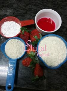ingredients for strawberry pancakes