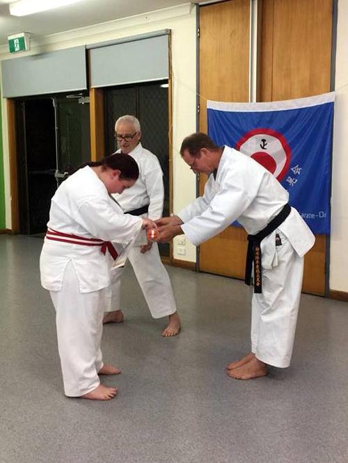 Heather's karate grading 4.10.17