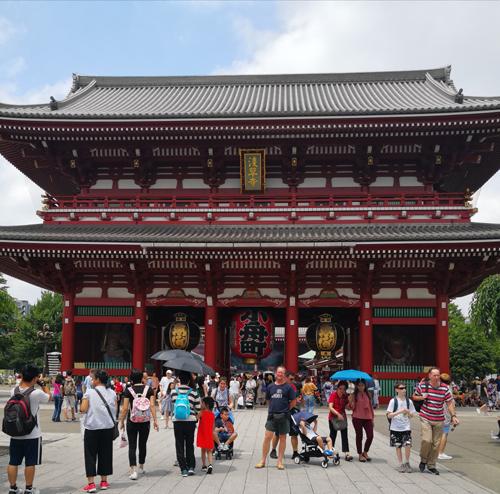 Sensei Neil in front of Sensō-ji Temple