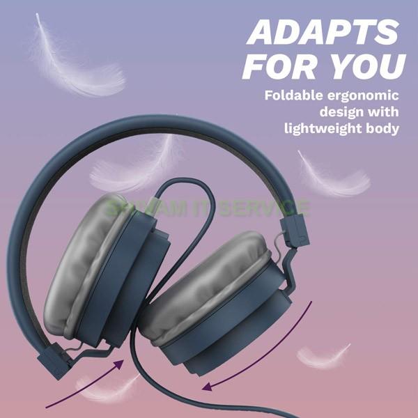 corseca 3213 hd stereo headphone blue 3