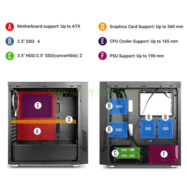 antec nx300 argb gaming cabinet 5
