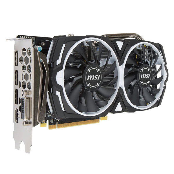 MSI RADEON RX 570 ARMOR 8GB OC GDDR5 256-Bit DirectX 12 Gaming Graphics Card