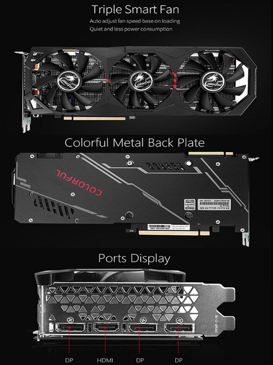 Colorful GeForce RTX 2080 SUPER 8G-V Graphic Card G-C2080S-8G-V