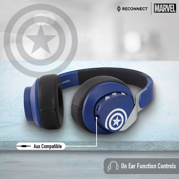 reconnect 501 marvel captain america wireless headphone 3