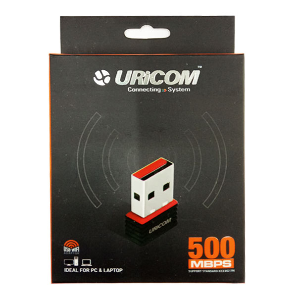 Uricom 500 Mbps Mini Wireless/Wifi USB Adapter