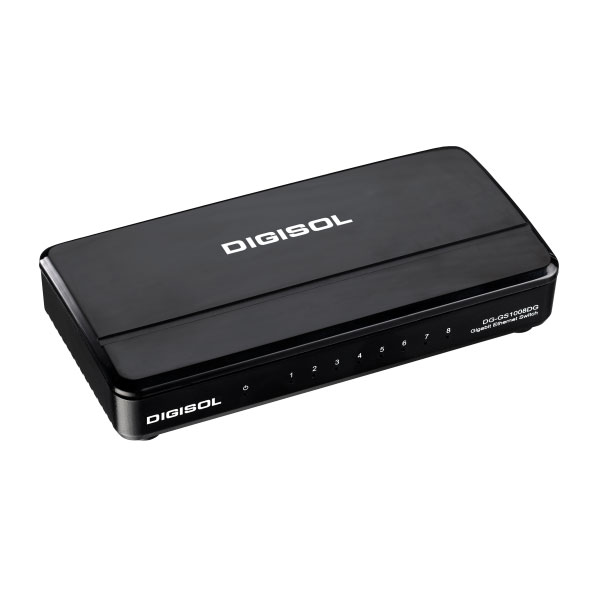 Digisol 8 Port Gigabit Ethernet Unmanaged Desktop Switch DG-GS1008DG