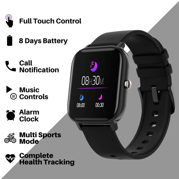 fire boltt full touch smart watch black 2
