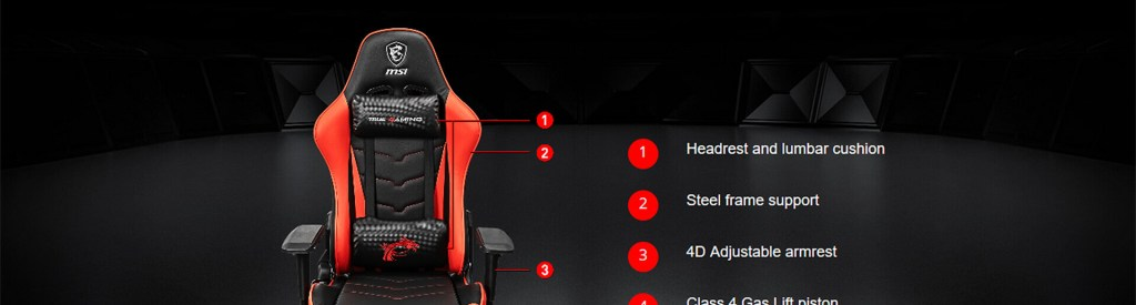 msi mag ch120 gaming chair black red 8