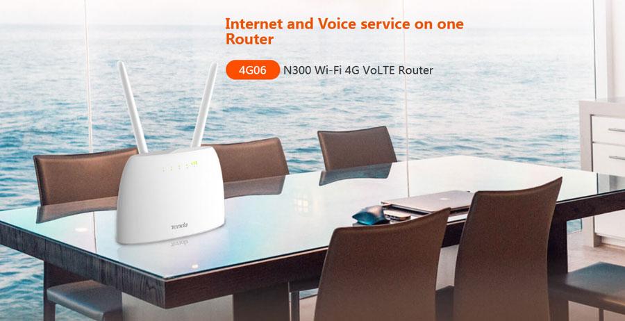 Tenda 4G06 N300 3G/4G LTE SIM Router Wi-Fi 4G VoLTE Router