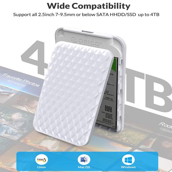 orico 2520u3 2.5 inch hard drive enclosure 8