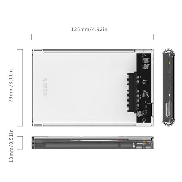 orico transparent hard drive enclosure 3