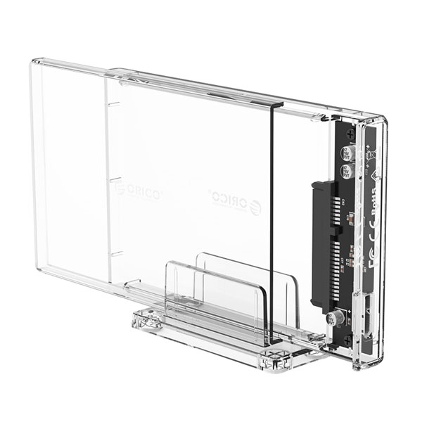 orico transparent hard drive enclosure with stand 2