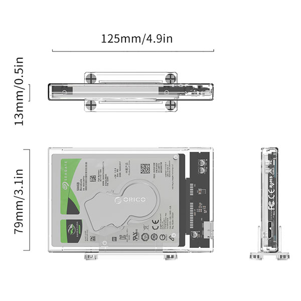 orico transparent hard drive enclosure with stand 3