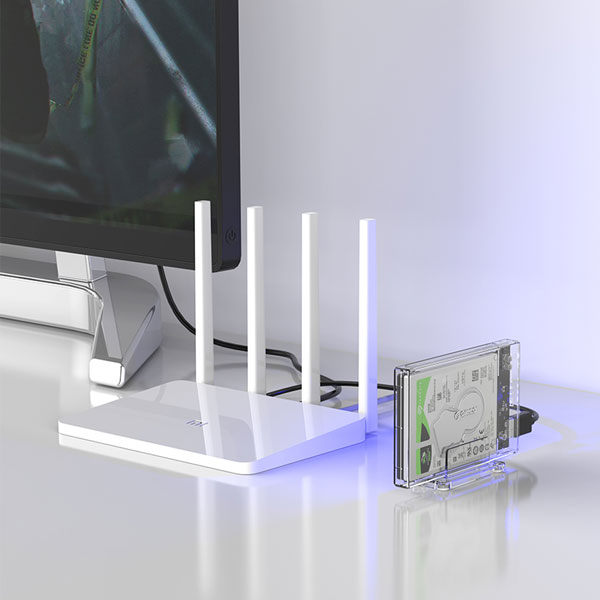 orico transparent hard drive enclosure with stand 4