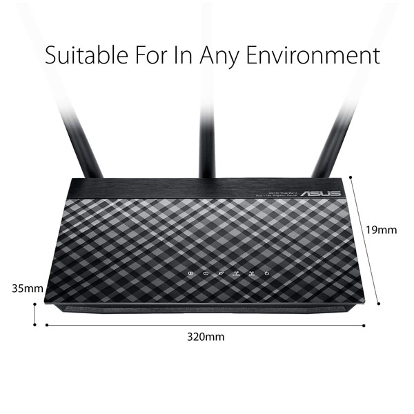 asus rt ac53 ac750 dual band wifi router 2