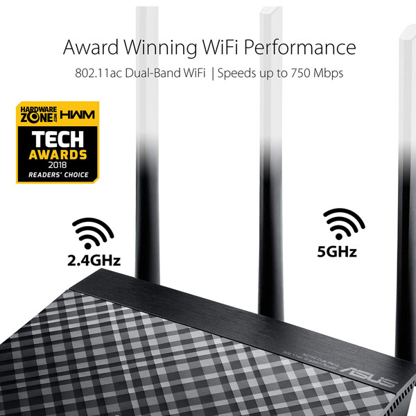 asus rt ac53 ac750 dual band wifi router 4