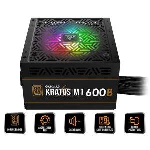 Gamdias Kratos M1-600B 600W 80 Plus Bronze Certified Non-Modular SMPS Power Supply